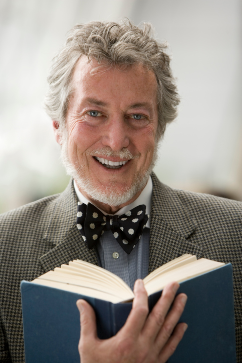 Professor with a book