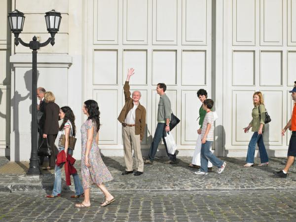 People on the sidewalk