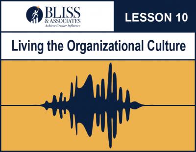 Living the Organizational Culture