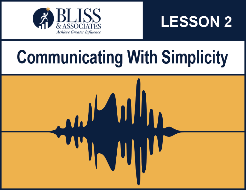 Communicating With Simplicity Lesson Two