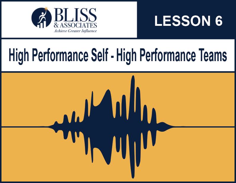 High Performing Self - High Performing Teams